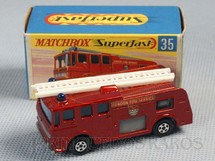 1. Brinquedos antigos - Matchbox - Merryweather Fire Engine Superfast Transitional Weels