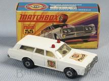 1. Brinquedos antigos - Matchbox - Mercury Police Car Superfast