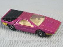 1. Brinquedos antigos - Matchbox - Alfa Carabo Superfast rosa metálico