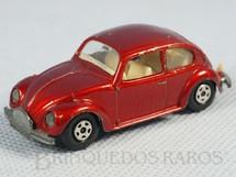 Brinquedos Antigos - Matchbox - Volkswagen 1500 Sedan Superfast Transitional Weels vermelho metálico Faltam os adesivos