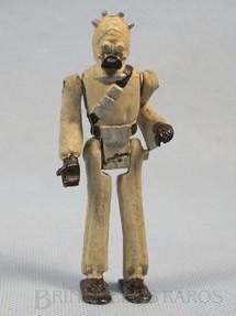 1. Brinquedos antigos - Model Trem - Tusken Raider com 10,00 cm de altura Série Novas Aventuras nas Galáxias Guerra nas Estrelas Star Wars Ano 1983
