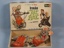 1. Brinquedos antigos - Revell - Monstro Rat Fink pintado sem montar Falta o manual de montagem Ed Roth Década de 1960