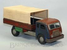 1. Brinquedos antigos - Anajé - Caminhão Alfa Romeo FNM Fenemê com cobertura de lona com 30,00 cm de comprimento Década de 1960