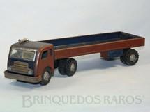 1. Brinquedos antigos - Anajé - Cavalo Mecânico Alfa Romeo FNM Fenemê com Carreta  30,00 cm de comprimento Década de 1960