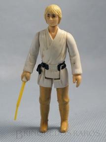 1. Brinquedos antigos - Glasslite - Luke Skywalker Star Wars Completo com Sabre de Luz Década de 1980