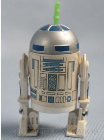1. Brinquedos antigos - Glasslite - Robot R2-D2 Star Wars Completo com Antena Década de 1980