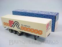 1. Brinquedos antigos - Arpra - Semi Reboque Furgão Relampago