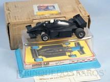 1. Brinquedos antigos - Estrela - Lotus Renault Fórmula 1 Série Ayrton Senna completa com Caixa Plástica Decais Originais e Sobre Caixa de papelão Década de 1980