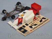 1. Brinquedos antigos - Estrela - McLaren MP4/4 Série Ayrton Senna pintura em V com Decais Originais Chassi diagonal Década de 1980