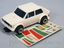 1. Brinquedos antigos - Estrela - Fiat 147 Branco com faróis dianteiros Decais Originais Década de 1980