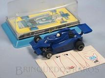 1. Brinquedos antigos - Estrela - Ligier JS11 Jacques Laffitte com Caixa plástica e Cópia das decais  Década de 1990