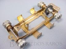 1. Brinquedos antigos - Estrela - Chassi Regulável de latão com Adaptadores para Carrocerias Bolha Completo com Cubos Eixos e Coroa Década de 1960