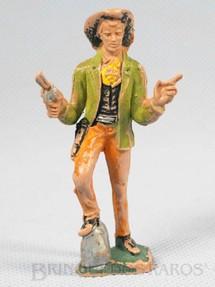 1. Brinquedos antigos - Casablanca e Gulliver - Cowboy de pé com revolver e charuto Década de 1970