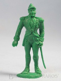 1. Brinquedos antigos - Casablanca e Gulliver - Dom Pedro I de pé Plástico verde Série Independência ou Morte Década de 1970