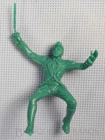 1. Brinquedos antigos - Casablanca e Gulliver - Nobre a cavalo Plástico verde Série Independência ou Morte Década de 1970