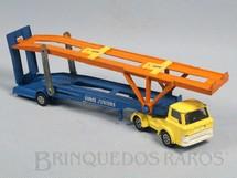 1. Brinquedos antigos - Corgi Toys-Corgi Jr. - Caminhão Cegonha Hoynor Car Transporter cabine amarela Corgi Jr