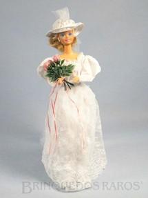 1. Brinquedos antigos - Mattel - Boneca Barbie Noiva Romantic Wedding Fashion Serie Década de 1980
