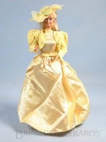 1. Brinquedos antigos - Mattel - Boneca Barbie Jewel Secrets Serie vestido amarelo Década de 1980