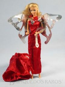 1. Brinquedos antigos - Mattel - Boneca Barbie Jewel Secrets Serie vestido vermelho Década de 1980