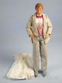 1. Brinquedos antigos - Mattel - Boneco Ken e vestido da Barbie Dream Glow Serie Década de 1980