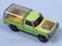 1. Brinquedos antigos - Matchbox - Inbrima - Caminhonete Wild Life Truck verde Brazilian Matchbox Rola-Matics Inbrima 1970