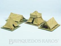 1. Brinquedos antigos - Fanabri - Conjunto de 4 Barracas Série Batalha do Tuiutí com uma Barraca pequena Duas Barracas Grandes e a Barraca do Comandante com Lampião Década de 1960