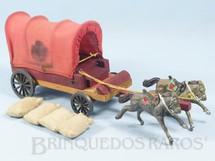 1. Brinquedos antigos - Fanabri - Carroça do Exército Paraguaio 1º Regimento de Artilharia Batalha do Tuiutí com 4 Sacos de aniagem Falta o Cocheiro Década de 1960