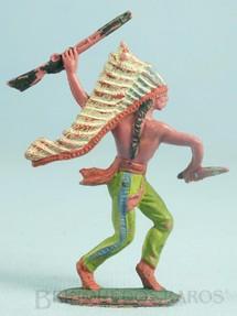 1. Brinquedos antigos - Casablanca e Gulliver - Chefe índio de pé com rifle e faca Gulliver