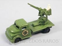 1. Brinquedos antigos - Balila - Caminhão militar Metralhadora Anti Aérea Década de 1970