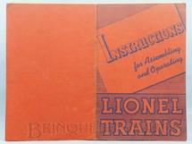 1. Brinquedos antigos - Lionel - Manual Instructions For Assembling and Operating Lionel Trains 40 páginas Copyright 1940
