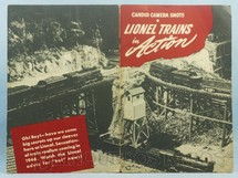 1. Brinquedos antigos - Lionel - Livreto Lionel Trains in Action Candid Camera Shots 14 páginas 36 fotos em preto e branco Copyright 1945