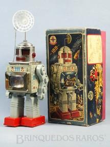 1. Brinquedos antigos - Estrela - Robot com TV no peito de lata e plástico Brazilian Robot 28,00 cm de altura Ano 1970