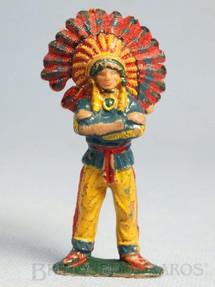 1. Brinquedos antigos - Casablanca e Gulliver - Chefe índio de pé com braços cruzados Chefe Cochise Casablanca numerado 113 Erro de Fábrica Década de 1960