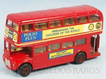 1. Brinquedos antigos - Corgi Toys - Routemaster London Bus Rotary Polio Plus Immunising the Children of the World Década de 1970