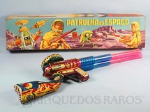 1. Brinquedos antigos - Estrela - Metralhadora Espacial Patrulha do Espaço com 53,00 cm de comprimento Datado 06-03-1969