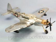 1. Brinquedos antigos - AMF Wen Mac - Avião de Caça Bell P63 King Cobra com 54,00 cm de envergadura Década de 1960