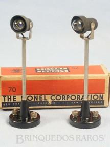 1. Brinquedos antigos - Lionel - Postes 70 Yard Light 12,00 cm de altura Ano 1949 a 1950