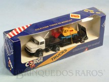 1. Brinquedos antigos - Corgi Toys-Kiko - Mercedes Benz Loader and Excavator embalagem lacrada Brazilian Corgi Jr Kiko Década de 1980