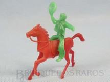 1. Brinquedos antigos - Pech Hermanos - Cowboy montado a cavalo Década de 1960