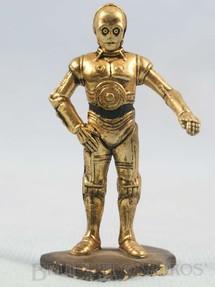 1. Brinquedos antigos - Kenner - Robot C3PO com 7,00 cm de altura Star Wars Lucas Film Série Action Masters Ano 1994
