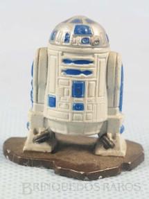 1. Brinquedos antigos - Kenner - Robot R2D2 com 3,5 cm de altura Star Wars Lucas Film Série Action Masters Ano 1994