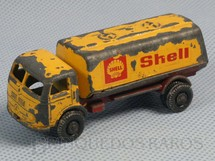 1. Brinquedos antigos - Roly Toys - Caminhão Tanque Mercedes Benz Shell com 7,00 cm de comprimento Década de 1960