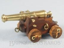 1. Brinquedos antigos - Sem identificação - Canhão Naval de madeira e latão com 7,00 cm de comprimento