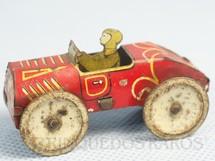 1. Brinquedos antigos - Sem identificação - Carro com 6,00 cm de comprimento Vermelho  Década de 1930