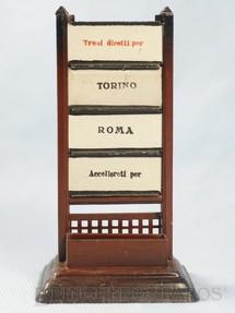 1. Brinquedos antigos - Marklin - Sinalizador com Placas de origem e destino 14,00 cm de altura Torino Roma Década de 1920