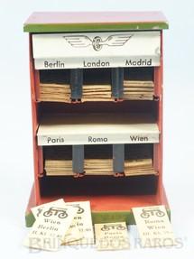 1. Brinquedos antigos - Marklin - Bilheteira com 42 Bilhetes de Passagens 11,00 cm de altura Década de 1930