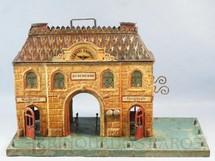 1. Brinquedos antigos - Sem identificação - Estação com 35,00 cm de comprimento e 21,00 cm de altura Iluminação por velas Bitola O Década de 1910