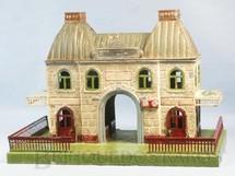 1. Brinquedos antigos - Marklin - Estação com 34,00 cm de comprimento e 23,00 cm de altura Iluminação por velas Bitola O Ano 1905