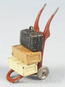 1. Brinquedos antigos - Sem identificação - Carrinho de Estação para Bagagens com 5,00 cm de altura Década de 1930