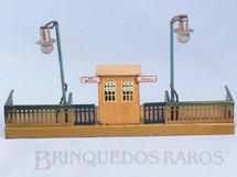 1. Brinquedos antigos - Marklin - Plataforma de embarque com Posto de Controle 22,00 cm de comprimento Bitola OO ano 1937
